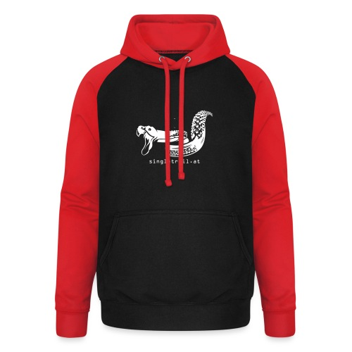 Single Trail Snake in Weiss - Unisex Baseball Hoodie
