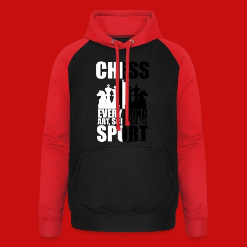 chess_for_red_OK-png - Sudadera con capucha de béisbol unisex