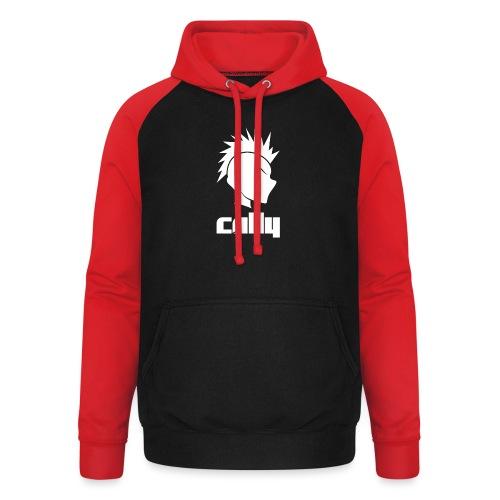 Cally Mohawk & Text Logo - Unisex Baseball Hoodie