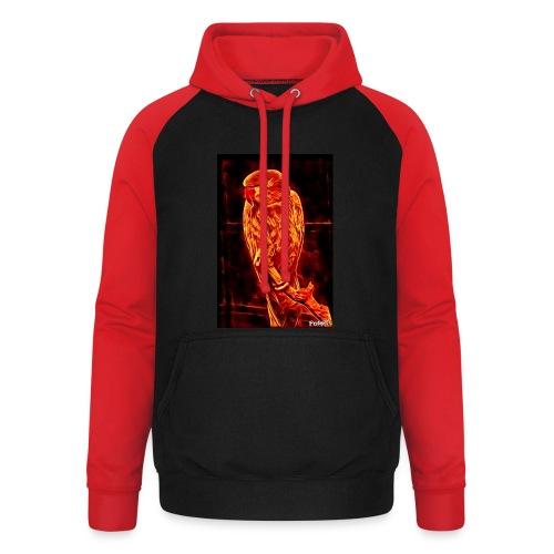 Bird in flames - Unisex baseball-huppari