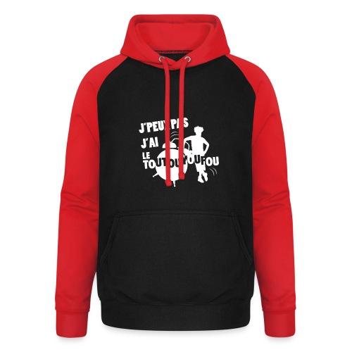 JPEUXPAS BLANC - Sweat-shirt baseball unisexe