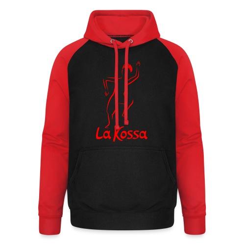 La Kossa - Unser Herz tanzt bunt - Logo rot - Unisex Baseball Hoodie