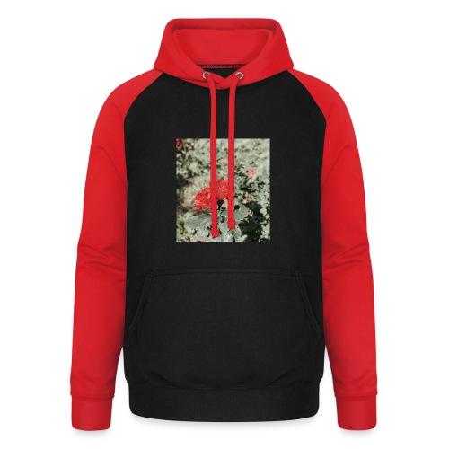 Red rose - Unisex baseball hoodie
