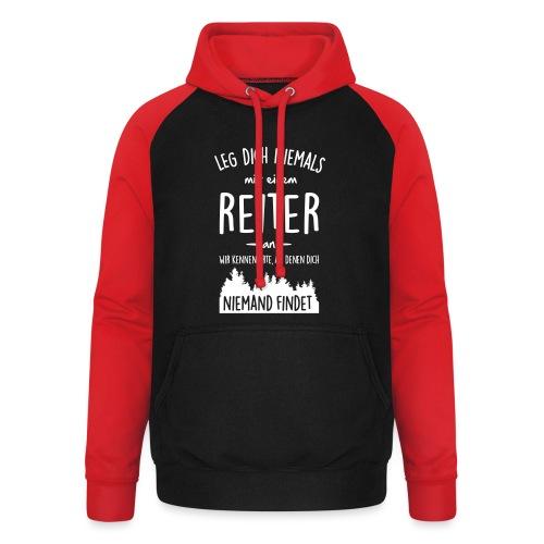 Vorschau: Reiter - Unisex Baseball Hoodie