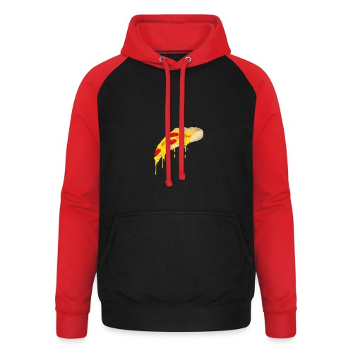 Svævende Pizza. - Unisex baseball hoodie