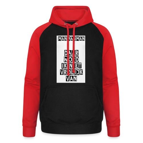 ManManMan - Unisex baseball hoodie