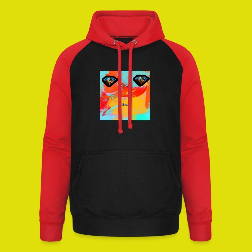grey hoodie youtube logo - Unisex Baseball Hoodie