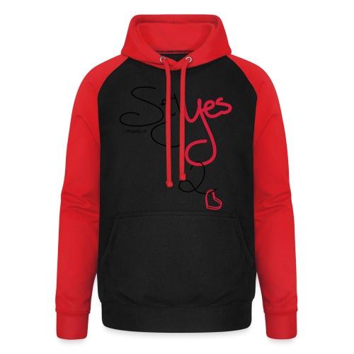 Yes 2 Love - Unisex baseball hoodie