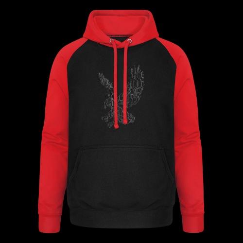 Circuit eagle White - Unisex baseball hoodie