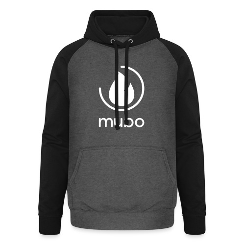 mubo logo - Unisex Baseball Hoodie