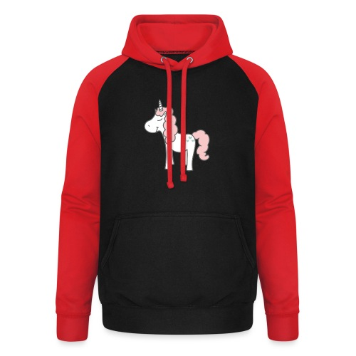 unicorn as we all want them - Unisex baseball hoodie