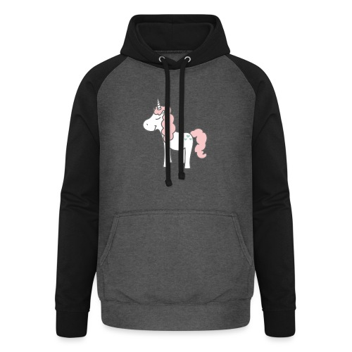 unicorn as we all want them - Unisex baseball hoodie