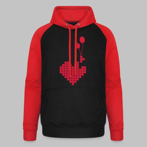 heart and balloons - Unisex Baseball Hoodie