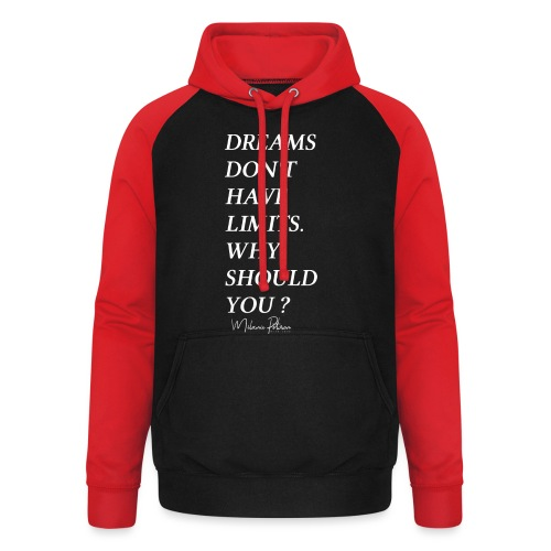 DREAMS DON'T HAVE LIMITS - Sweat-shirt baseball unisexe