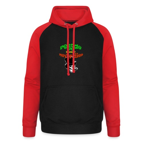 Reggae Muziek Never Dies - Unisex baseball hoodie