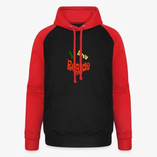 I Love Reggae - Unisex baseball hoodie