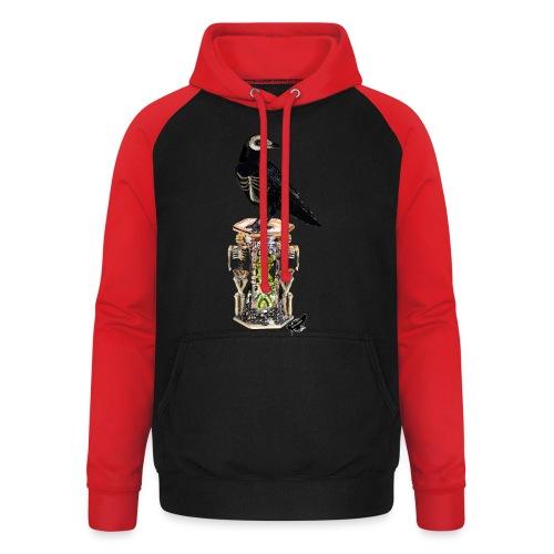 'Memento Mori' by BlackenedMoonArts - Unisex baseball hoodie