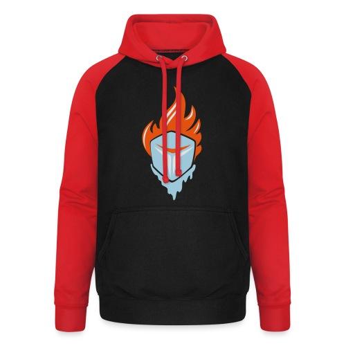 Fire and Ice 3C - Unisex Baseball Hoodie
