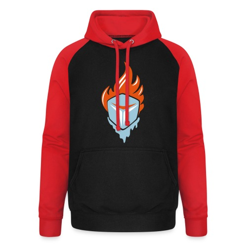 Fire and Ice 3C - Unisex Baseball Hoodie
