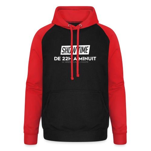 Logo ShowTime Blanc - Sweat-shirt baseball unisexe