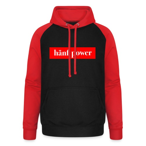 Hanf Power RED - Unisex Baseball Hoodie