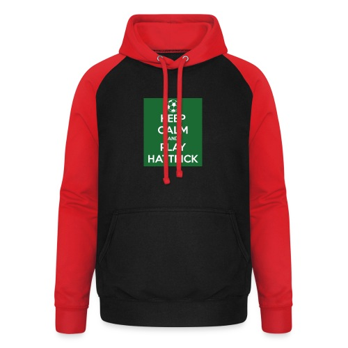 keep calm and play hattrick - Felpa da baseball con cappuccio unisex
