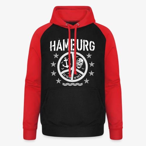 105 Hamburg Peace Anker Seil Koordinaten - Unisex Baseball Hoodie