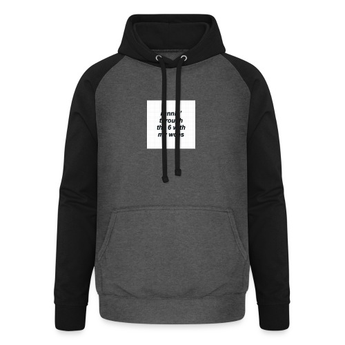 cap woes - Unisex baseball hoodie