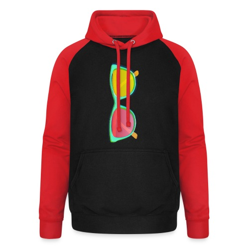 Vintage Retro Glasses Pop Art Style - Unisex Baseball Hoodie