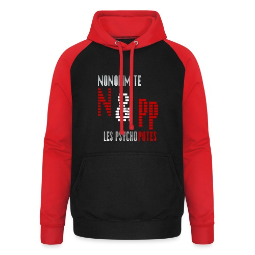NePP noir - Sweat-shirt baseball unisexe