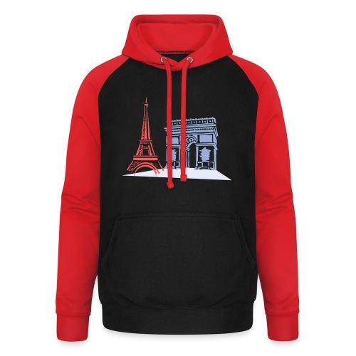 Paris - Sweat-shirt baseball unisexe