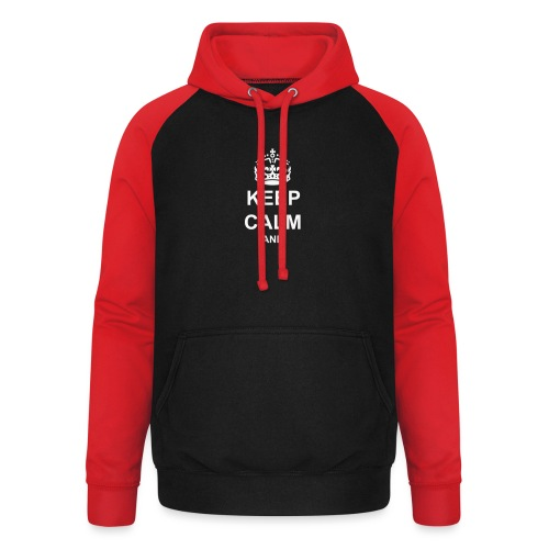 Keep Calm And Your Text Best Price - Unisex Baseball Hoodie
