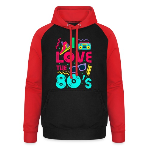 I love the 80s - cool and crazy - Unisex Baseball Hoodie