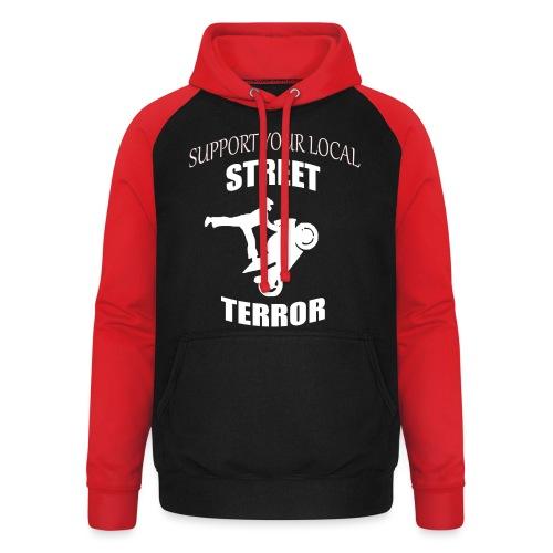 Streetterror Support - Unisex baseball-huppari