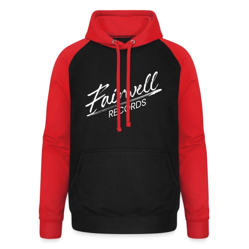 Fairwell Records - White Collection - Unisex baseball hoodie