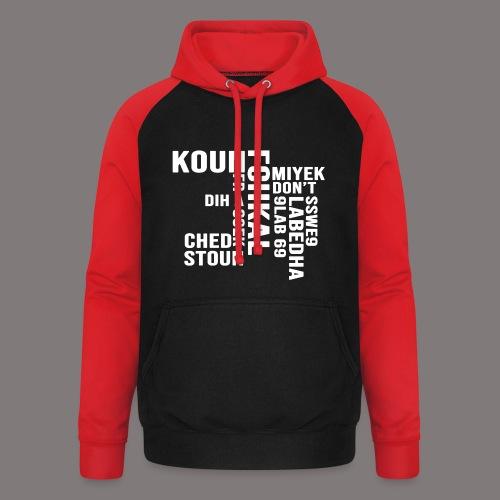 KOUN FCHKAL Blanc - Sweat-shirt baseball unisexe