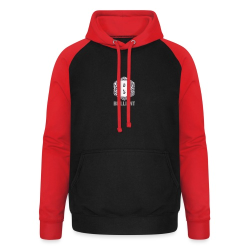 B brilliant grey - Unisex baseball hoodie