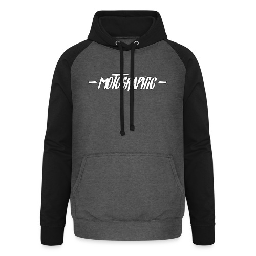 Motographic dual opdruk - Unisex baseball hoodie