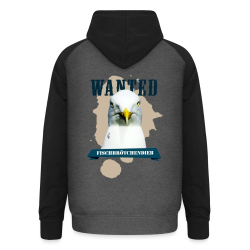 WANTED - Fischbrötchendieb - Unisex Baseball Hoodie