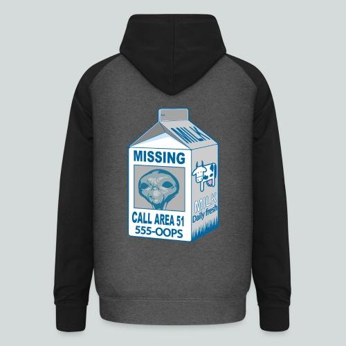 Missing: alien - Sweat-shirt baseball unisexe