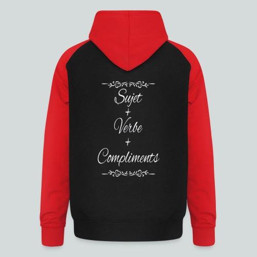 Sujet+verbe+compliments - Sweat-shirt baseball unisexe