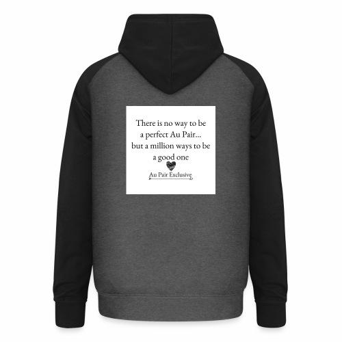 Perfect au pair - Unisex baseball hoodie