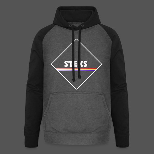3Color STEKS™ Logo - Unisex baseball hoodie