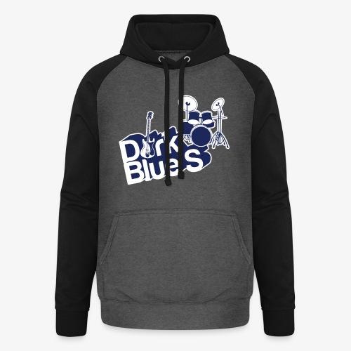 DarkBlueS outline gif - Unisex Baseball Hoodie