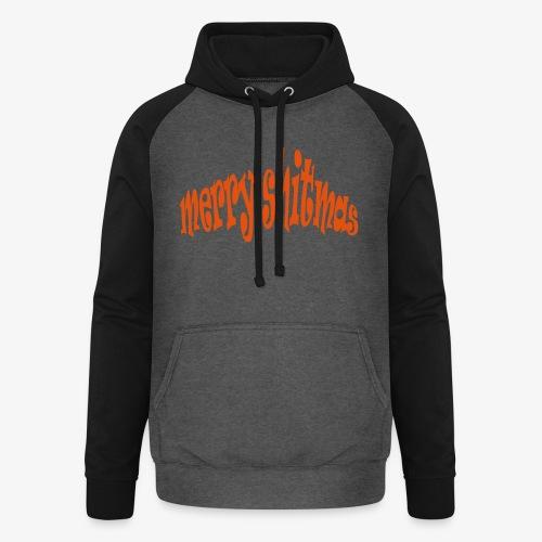 Foute kerst T-shirt Merry Shitmas - Unisex baseball hoodie