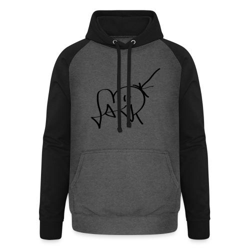 Jackjohannes Hemp signatuur 'Jack' zwart - Unisex baseball hoodie