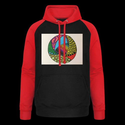 circle corlor - Unisex baseball hoodie