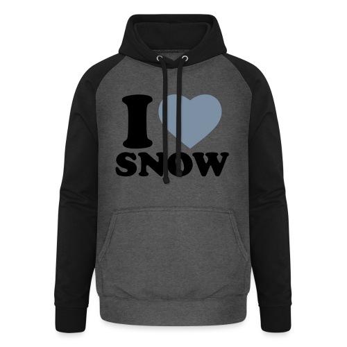 I LOVE SNOW - Unisex Baseball Hoodie