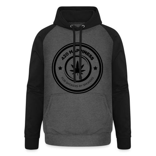 420_Happiness_logo - Unisex baseball hoodie