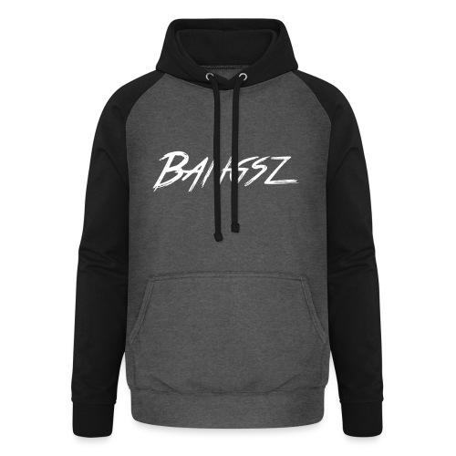 Bangsz Sweater- White print - Unisex baseball hoodie